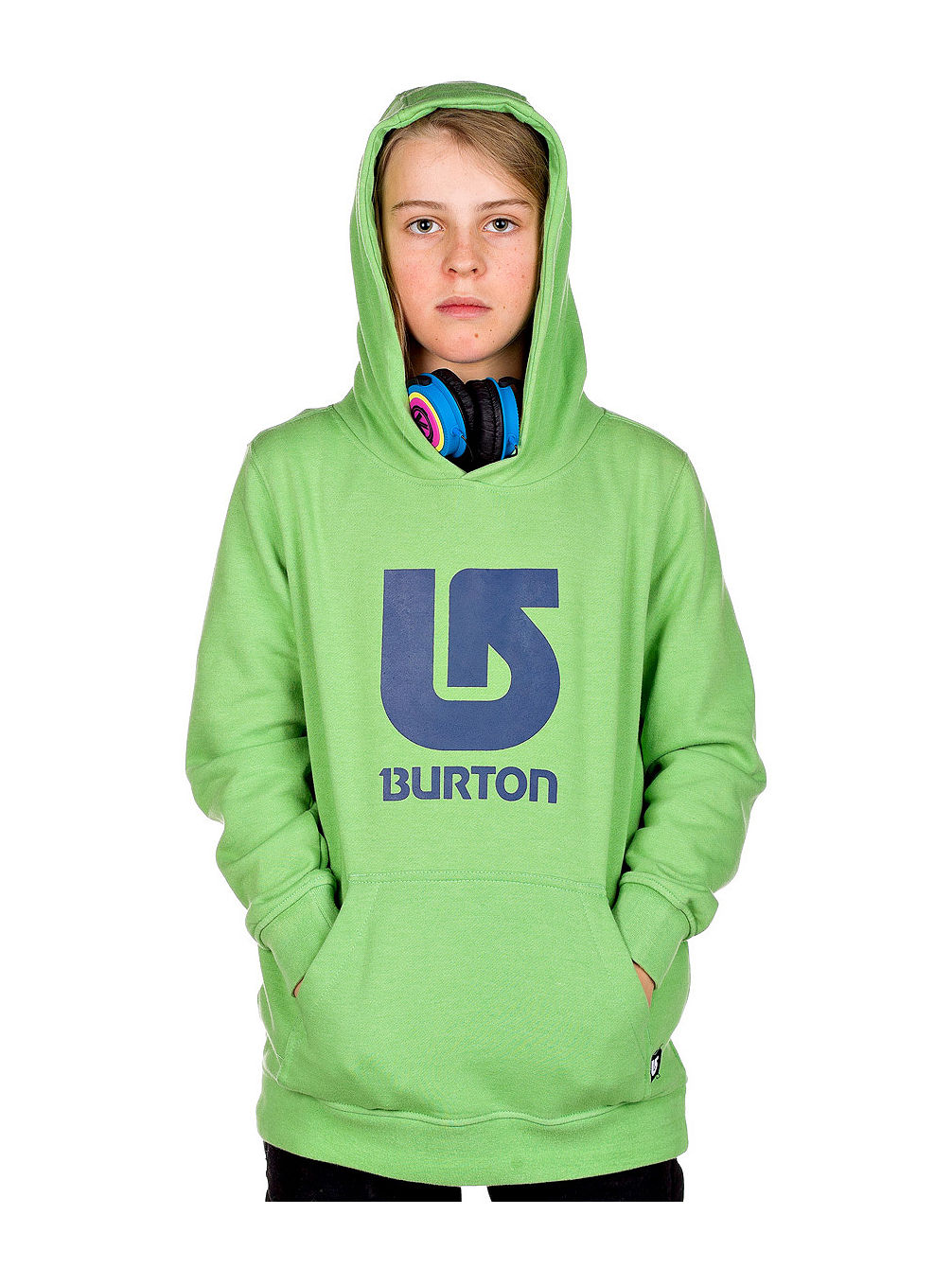 Logo Vertical Pullover Hoodie Youth
