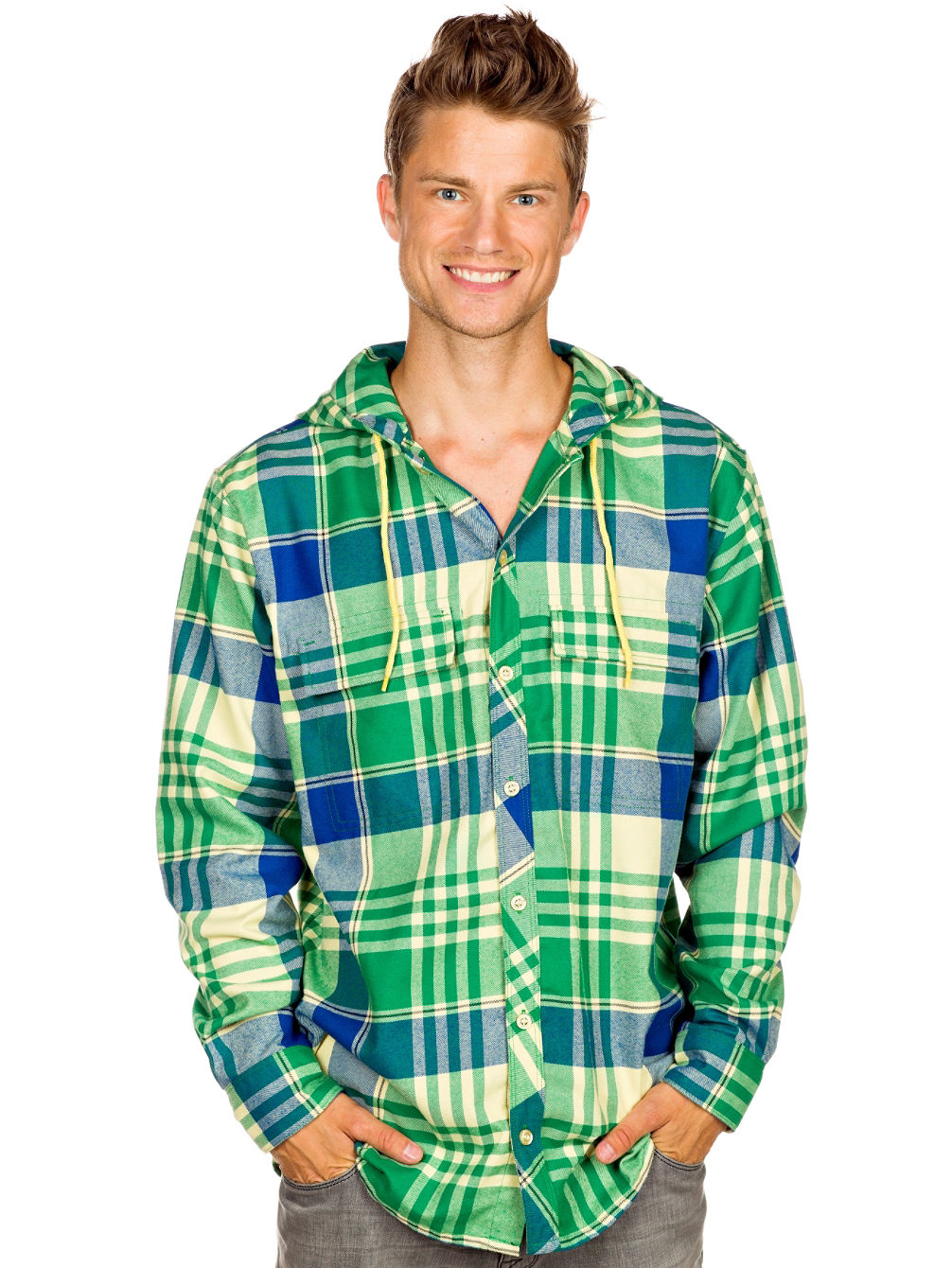Ruckus Hooded Flannel Shirt LS