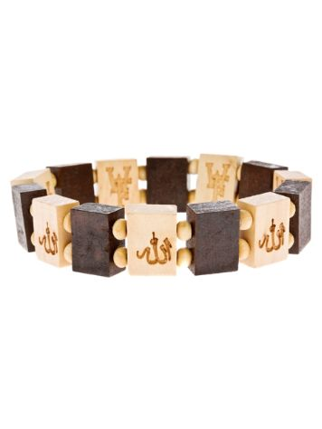 Wood Fellas Allah Wheat Bracelet