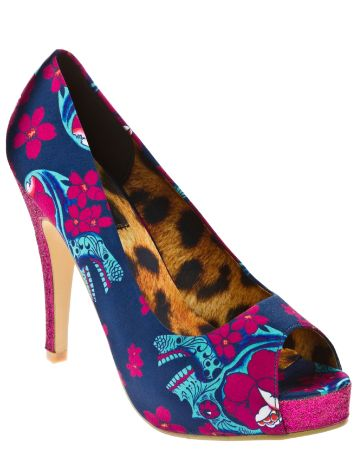 Iron Fist Midnight Blacklight Peep Toe Platform
