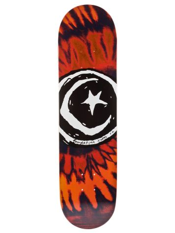 Foundation Star and Moon Tie Dye Red 7.875