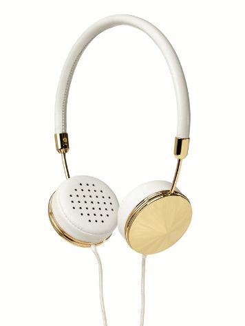 Frends The Layla White Leather/Gold Headphones