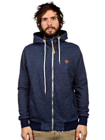 RVLT Cotton Denim Look Zip Hoodie
