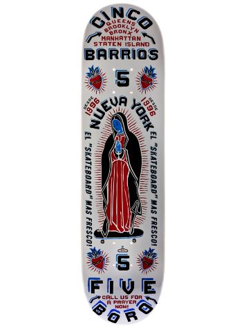 5boro Cinco Barrios White 8.0 x 32
