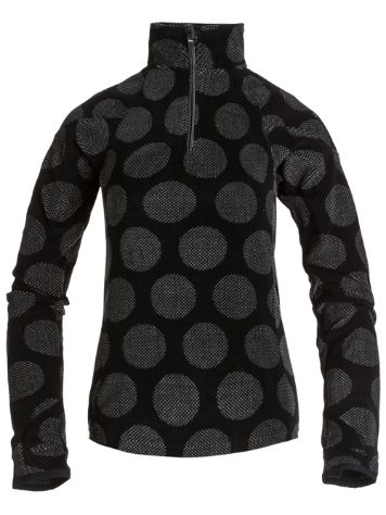 Roxy Mist Half Zip Pin Dot Spot Black Pullove