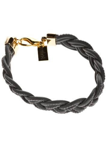 mint Braided Stitch Nappa Bracelet Gold