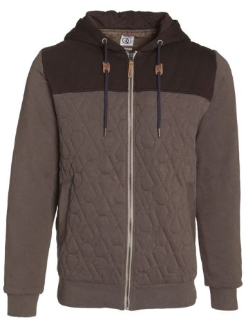 Volcom Colony Quilted Fleece Zip Hoodie