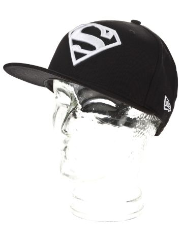 New Era Superman Black White Basic Cap