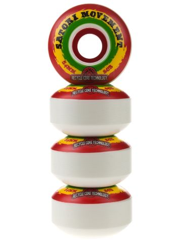 Satori Recycled Core Rasta Swirl 80b 54mm Wheels