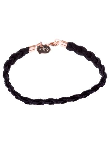 mint Sude Braided Rose Gold Bracelet