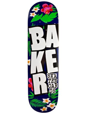 "Baker Stacked Floral Blue White 8.125"" Deck"