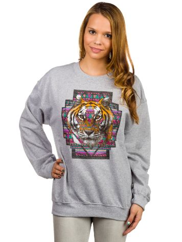Empyre Girls Geo Tiger Crew Sweater