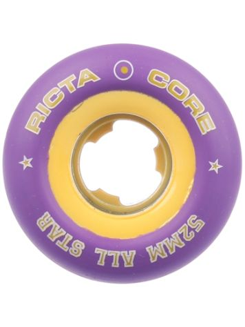 Ricta Chrome Core All Star Purple 52mm Wheels