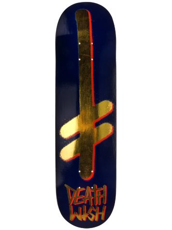 "Deathwish Gang Logo Navy/Gold 8.0"" Deck"