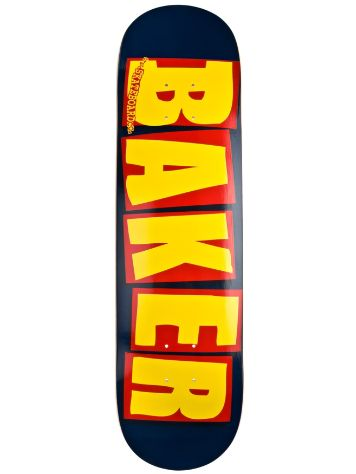 "Baker Brand Logo Navy/Yellow 7.875"" Deck"