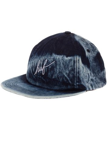 HUF Washed Script 6 Panel Cap