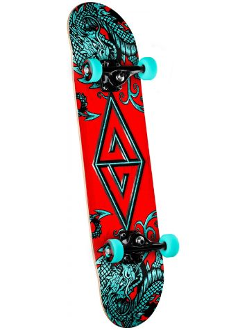 "Powell Golden Dragon Two Dragon 7.88"" Skateboard Complete"