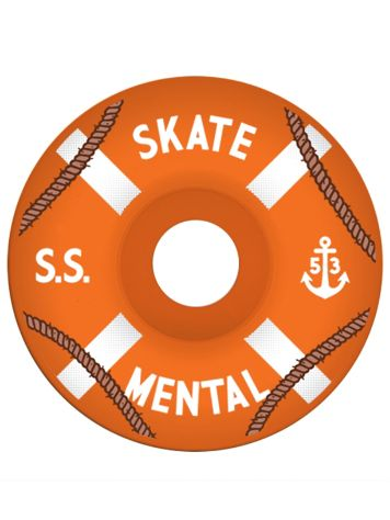 Skate Mental Orange Cruisers 80A 51mm Wheels