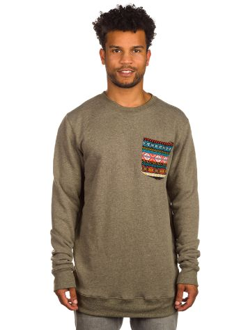 LOVE BOX Tall Native Chest Pocket Crew Sweater