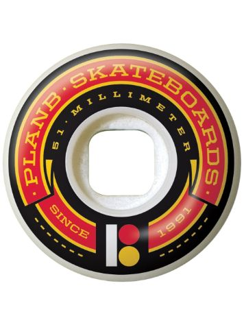 Plan B Team Banner Red 51mm Ruedas