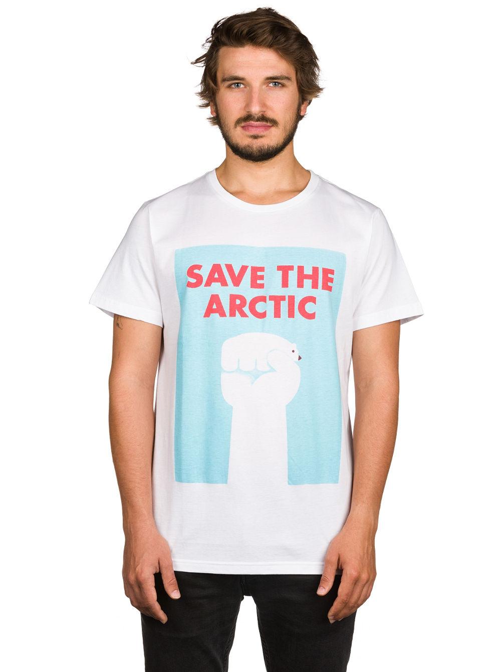 Artikel klicken und genauer betrachten! - Ein Shirt mit einem richtig gutem Statement! Save the Arctic!FeaturesFairtradeLabel Flag an der SeiteDesign vom italienischen Zeichner und Designer Mauro Gatti   im Online Shop kaufen