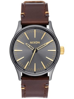 nixon uhr armbanduhr the sentry 38 leather herren m nner. Black Bedroom Furniture Sets. Home Design Ideas