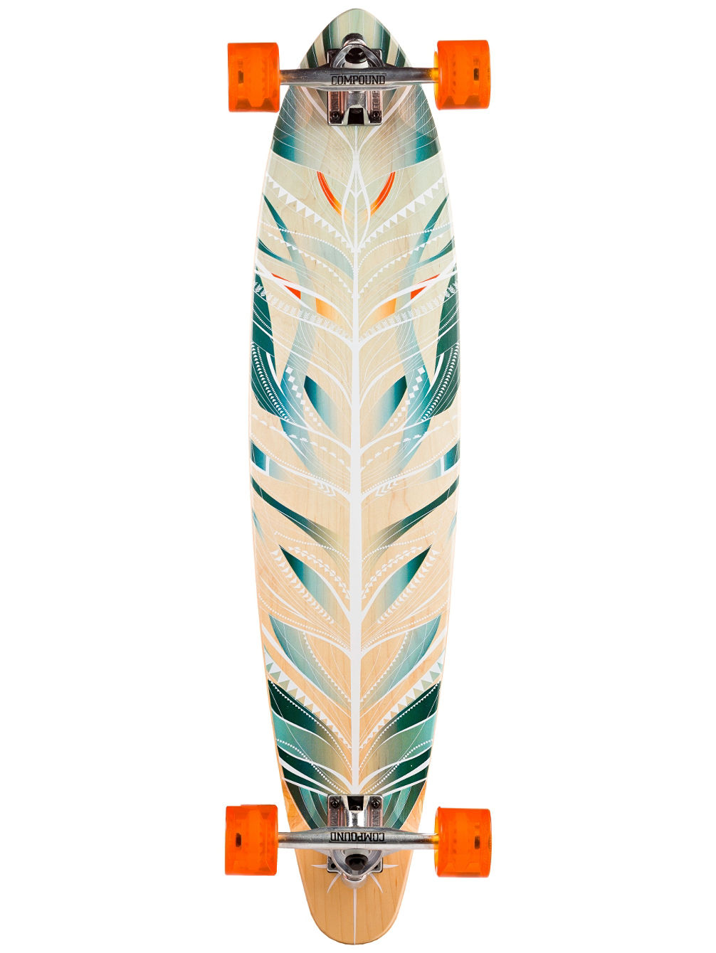 "Feathered Pin 37.25"" Longboard Complete"
