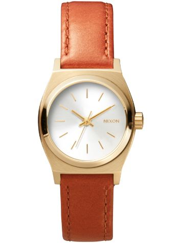Nixon The Small Time Teller Leather Horloge