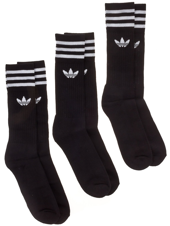 Image of adidas Originals Solid Crew 3 Pack Socks