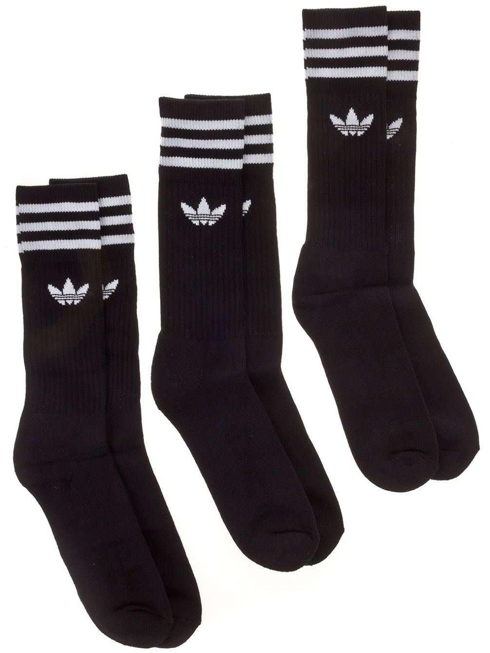 Solid Crew 3 Pack Socks