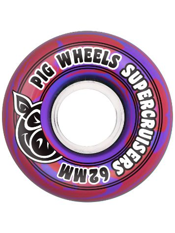 Pig Wheels Supercruiser Swirl 85A 62mm Rollen
