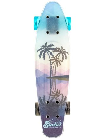 "Sunset Skateboards Tres Palms Grip 6"" x 22"" Complete"
