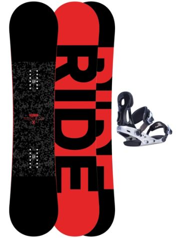 Ride Machete Jr 135 + Phenom S Blk 2017 Boys Snowboard Set