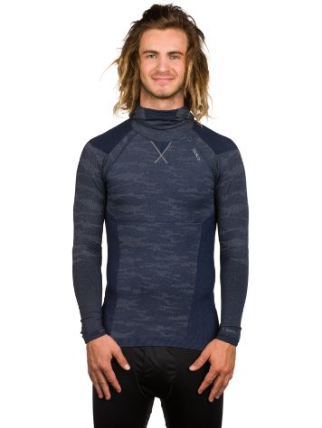 Odlo Evolution Warm Tech Tee LS with Facemask