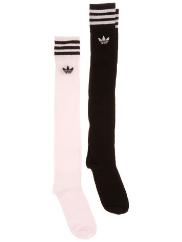buy adidas originals solid knee 2 pk socks online at blue. Black Bedroom Furniture Sets. Home Design Ideas
