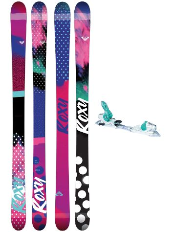 Roxy Ily 174 + Xpress11 2017 Freeski set
