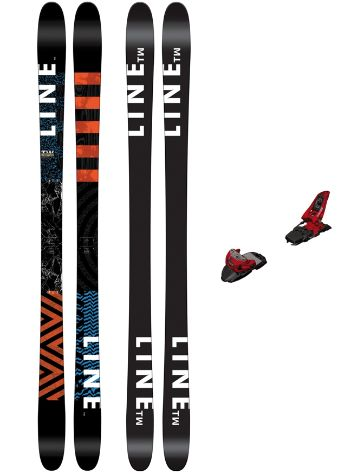 Line Tom Wallisch Pro 178 + Squire11 90mm redd 2017 Freeski-Set