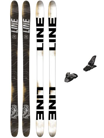 Line Tigersnake 178 + Squire11 90mm Black/Anthr 2017 Freeski-Set