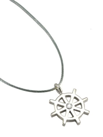 SilverSurf Steering Wheel S Necklace