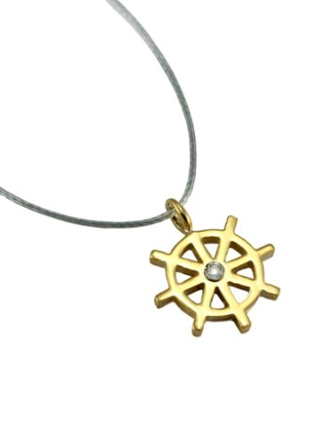 SilverSurf Steering Wheel S Gold Necklace