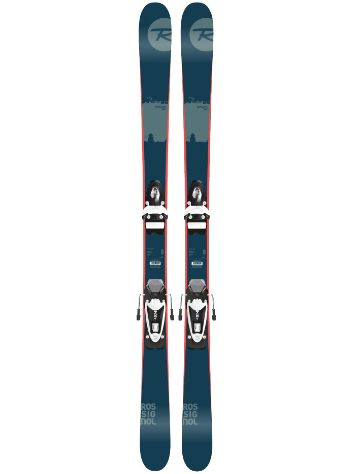 Rossignol Scratch Pro Jr 148 + NX JR B83 Black/White 2017 Youth Conjunto freeski
