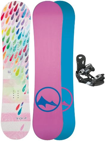 TRANS LTD Drops 152 + ECO M white 2017 Snowboard Set