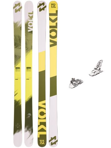 Völkl Step 155 + Squire 11 90mm White 2017 Freeski-Set
