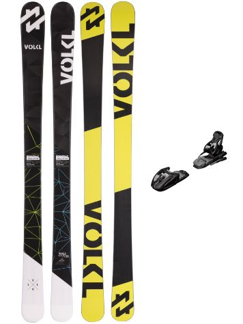 Völkl Wall Junior 148 + M7.0 Free 85mm 2017 Boys Freeski-Set