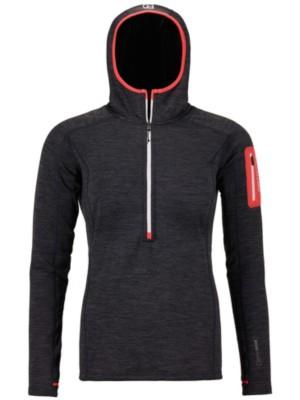 Ortovox Light Melange Zneck Pullover Jacket black steel Gr. M