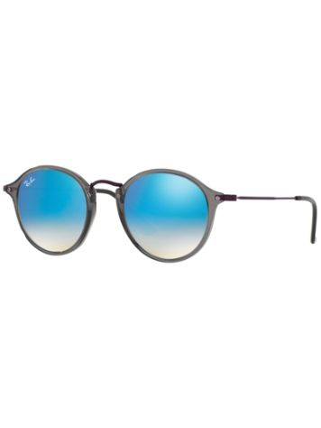 Ray Ban Round Fleck Transparent Grey Sonnenbrille