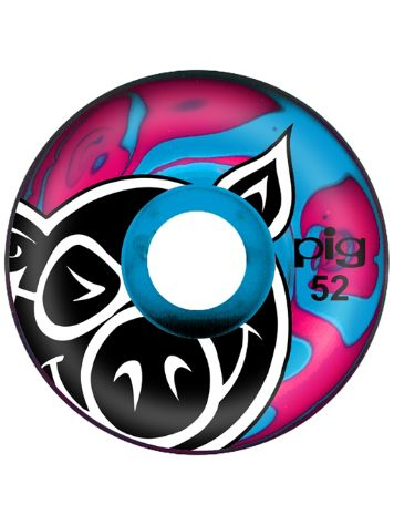 Pig Wheels Head Swirl Pink Blue 52mm Rollen