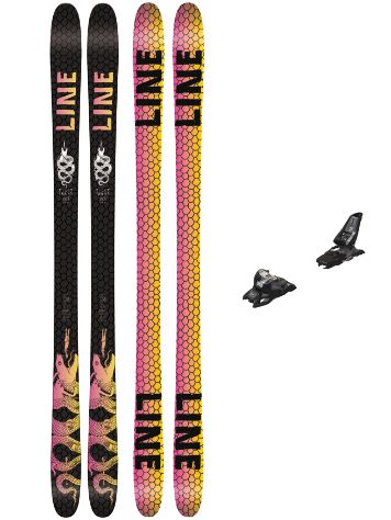Line Tigersnake 157 + Squire 11 90mm black 2018 Freeski set