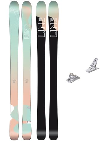 Line Soulmate 86 158 + Squire 11 90mm white 2018 Freeski-Set