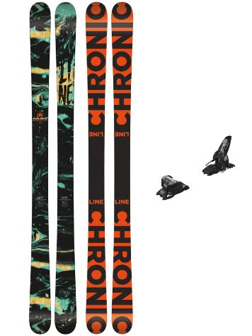 Line Chronic 171 + Griffon 13 90mm black 2018 Conjunto freeski